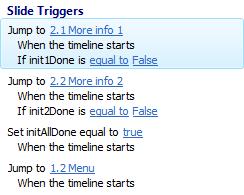 Triggers slide Initialize 1e versie