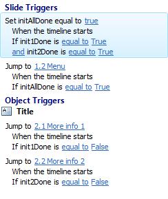 Verbeterde versie triggers op slide Initialize